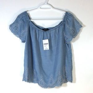 Forever 21 blue summer top NWT